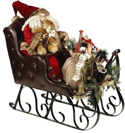 Santa Sleigh Outdoor Decoration by Santa In Sleigh Traditional Outdoor Holiday Decorations