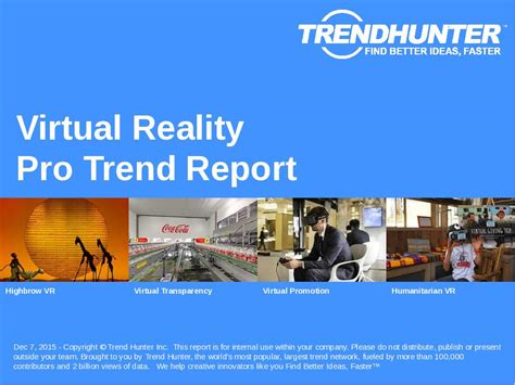 Custom Virtual Reality Trend Report & Custom Virtual Reality Market Research