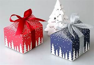 Christmas and New Year tree house mini candy box Birthday ...