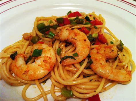 spaghettis aux scis et aux 2 poivrons envie de cuisiner