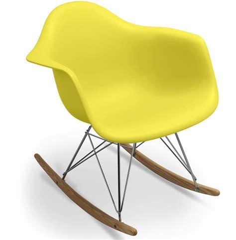 chaise a bascule jaune thesecretconsul