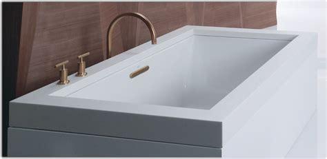45 ft drop in bathtub kohler k 1136 0 underscore 5 5 foot acrylic bath white