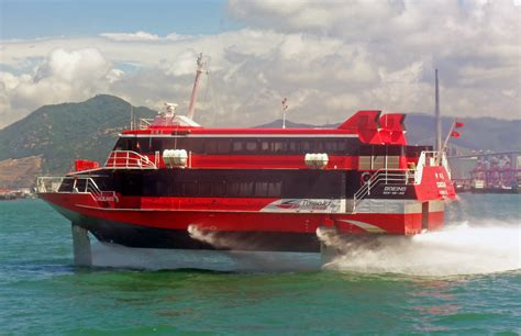 How Does A Catamaran Ferry Work by File Turbojet Hydrofoil Cacilhas In Hong Kong Harbor Jpg