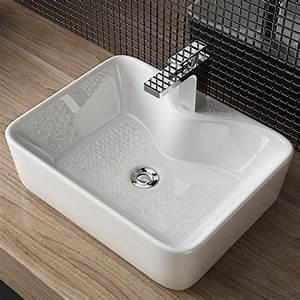 Handwaschbecken Mit Unterschrank Gäste Wc : waschbecken24 design keramik aufsatz waschbecken waschtisch handwaschbecken bad g ste wc top a98 ~ Markanthonyermac.com Haus und Dekorationen