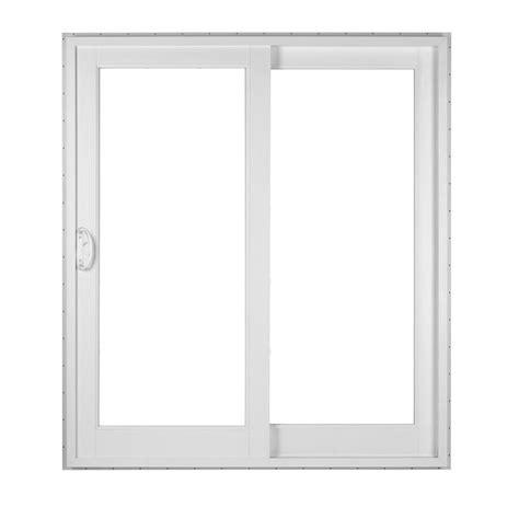 simonton white 2 panel rail sliding patio door with prosolar shade low e glass custom