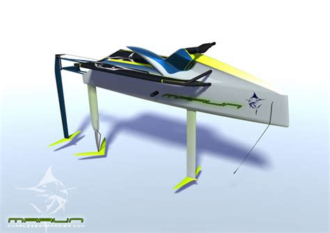 Pedal Catamaran Hydrofoil by Marlin Electric Personal Hydrofoil Concept By Niklas