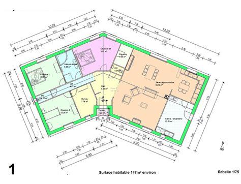 exemple plan maison en v