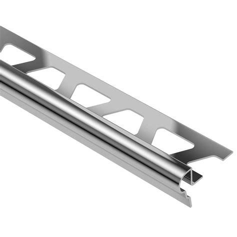 schluter trep fl stainless steel 1 2 in x 8 ft 2 1 2 in