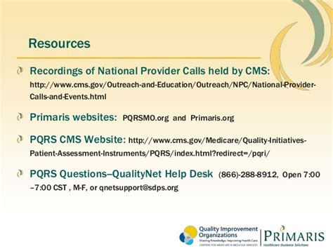 Medicare Qualitynet Help Desk by Msma New Pqrs Regulations