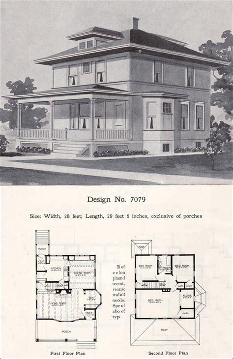 prairie box american foursquare 1908 radford plan no 7079