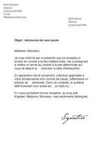 lettre de d 233 mission cdd vacataire mod 232 le de lettre