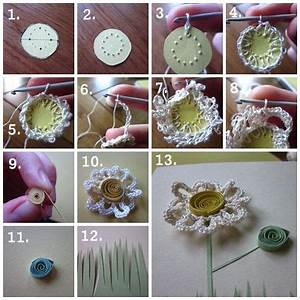 Tutorial: homemade Mother's Day card using crochet and ...