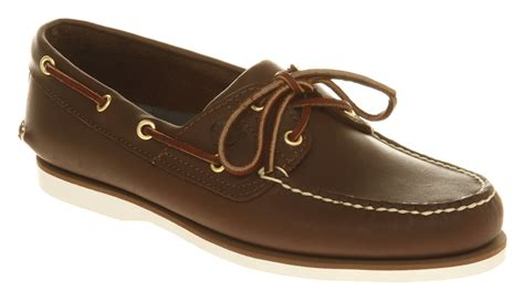 Dark Brown Boat Shoes by Mens Timberland New Boat Shoes Dark Brown Leather Casual