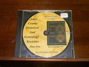 History of Adair County, Oklahoma on CD