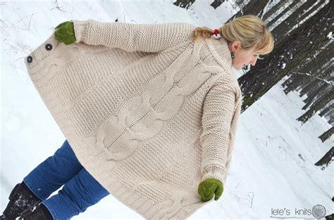 Oversized Sweaters Knitting Patterns