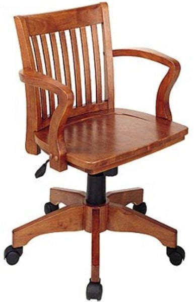 office 105 deluxe wood bankers chair with wood seat pneumatic seat height adjustment