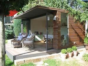 Gartenhaus Mit Glasfront : schnes gartenhaus aus holz mit modernem design garten ~ Markanthonyermac.com Haus und Dekorationen