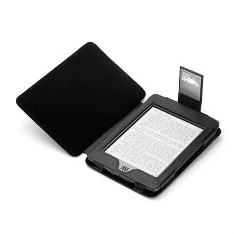 Kindle Touch Cover With Light by Black Genuine Leather Case For Kindle Touch With Slim Led