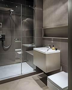 Fliesen Kleines Bad : kleines bad in beige und taupe dusche mit glasabtrennung wohnen living in 2018 pinterest ~ Markanthonyermac.com Haus und Dekorationen
