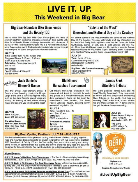 Big Bear Boat Rental Coupons by Events This Weekend In Big Bear