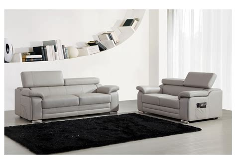 ensemble canap 233 s 2 et 3 places dakota en cuir gris canap 233 pas cher meublez ventes pas cher
