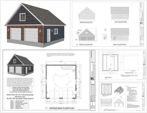 G550 28 x 30 x 9 garage plans with bonus room  SDS Plans