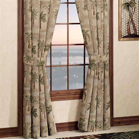 palm tree curtains classic palm tree curtain set w valance sheer tassels ebay fiji ii palm