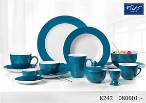 Geschirr Blau Weiß : kaffeeservice doppio petrol blau flirt by ritzenhoff breker ~ Markanthonyermac.com Haus und Dekorationen
