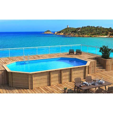 piscine hors sol bois weva proswell by procopi l 8 43 x l 4 89 x h 1 33 m leroy merlin