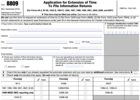 irs forms by mail requesting extensions for 1099 s asap help center