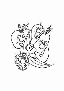 Obst Und Gemüsekorb : ausmalbilder lustige fr chte obst und gem se malvorlagen ~ Markanthonyermac.com Haus und Dekorationen