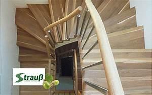 Halbgewendelte Treppe Mit Podest : schreinerei strau gewendelte treppen ~ Markanthonyermac.com Haus und Dekorationen