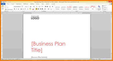 Microsoft Word Business Plan Template