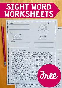 Free sight word worksheets | Sight word practice, Primer ...