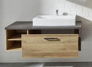 Waschbeckenunterschrank Holz Hängend : trendteam badezimmer bay eiche m bel letz ihr online shop ~ Markanthonyermac.com Haus und Dekorationen