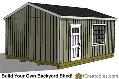 16x20 gable shed plans large backyard shed plans