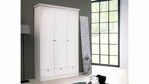 Weißer Kleiderschrank Landhausstil : kleiderschrank landwood wei er schrank 3 t rig im landhausstil ~ Markanthonyermac.com Haus und Dekorationen