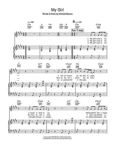Night Boat To Cairo Madness Lyrics by My Girl Sheet Music By Madness Piano Vocal Guitar 38895