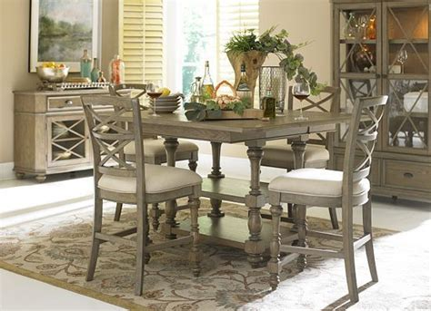 this havertys lakeview dining table is sure to give your dinner a stylish and rustic