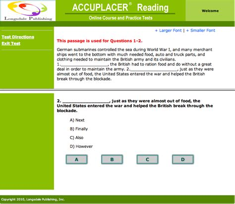 Accuplacer Reading Comprehension Online Course And Practice Tests  Prepare Now  Save Money And