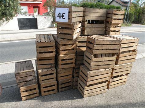 80 ancienne caisse a pommes en bois