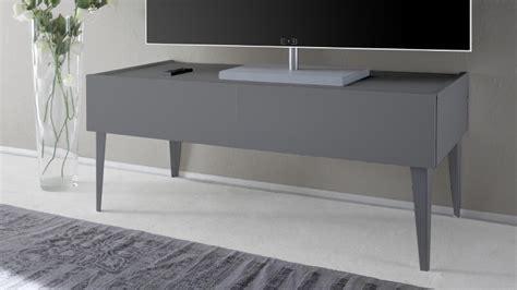 meuble tv 2 tiroirs galatik laqu 233 gris mat mobilier moss