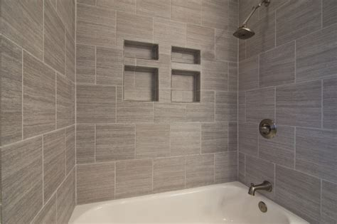 adorable gray tile bathroom ideas with clean finish home