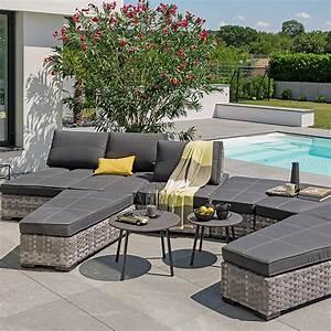 Loungemöbel Outdoor Ausverkauf : sunfun emma loungem bel set 8 tlg wei grau 8303 loungeset icdg sommermoebel ~ Markanthonyermac.com Haus und Dekorationen