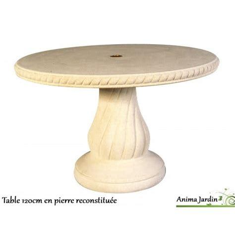 table en reconstitu 233 e ronde 120cm avec frise grandon achat vente