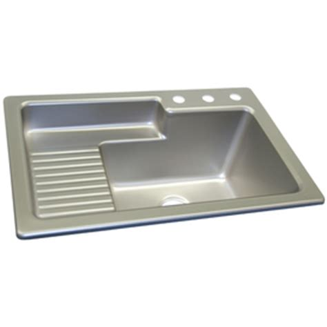 shop corstone steel self acrylic laundry sink at