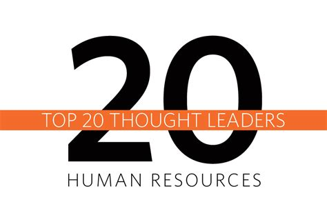 The Top 20 Thought Leaders In Human Resources Vignette