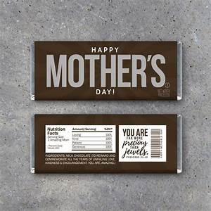 Happy MOTHER'S DAY Candy Bar Wrappers Printable Instant
