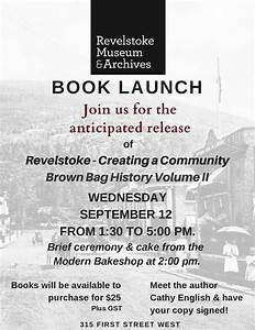 Brown Bag History Book Launch - Revelstoke Mountaineer