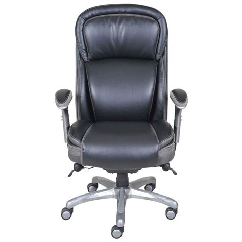 serta ergonomic high back leather manager office chair in black 44956